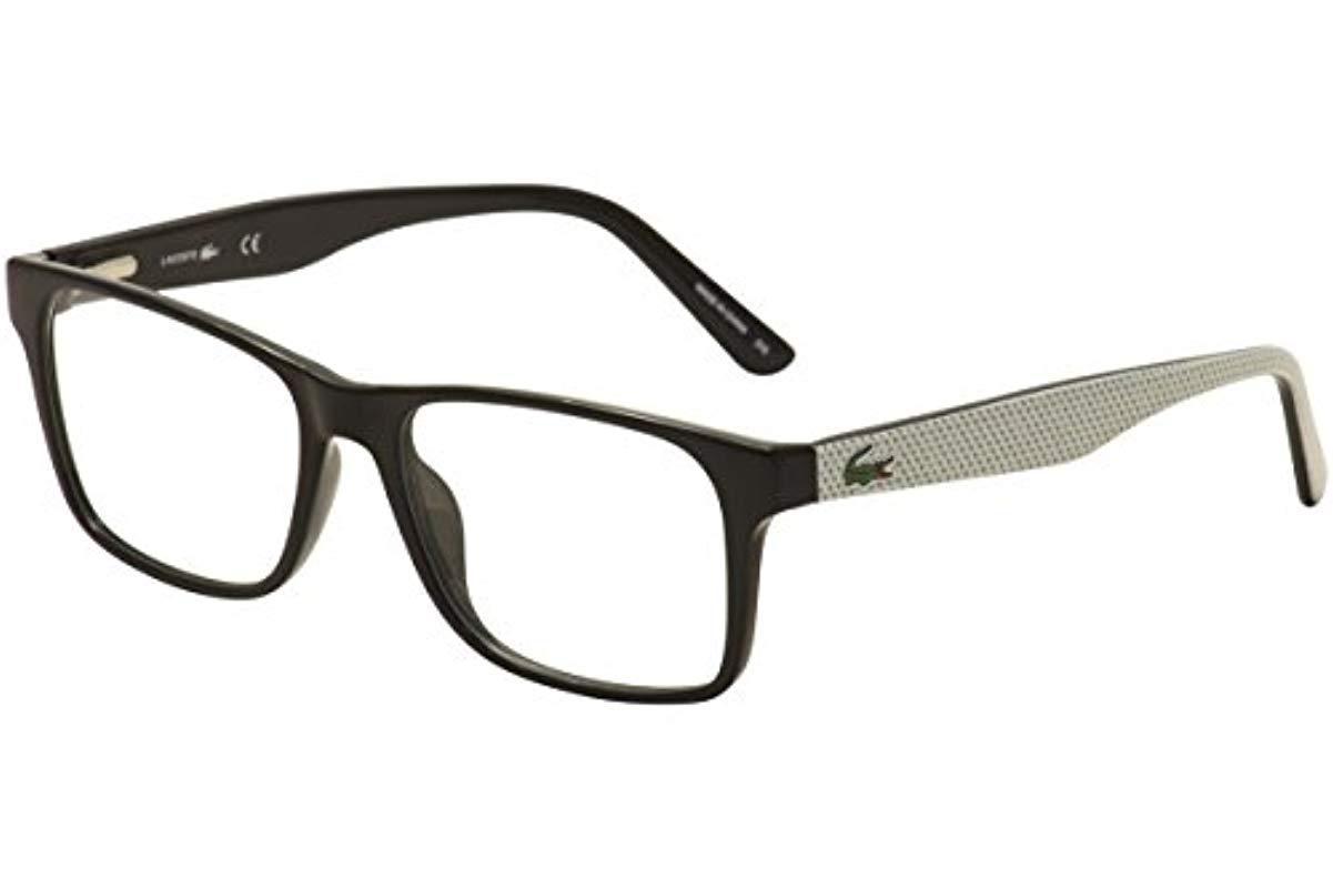 7467d046fca666 Lacoste optical frames black in black for men lyst jpg 1201x800 Lacoste  optical
