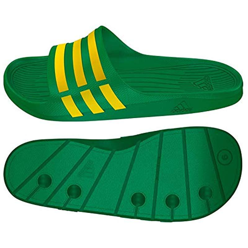 innovative design 17f94 07db3 adidas Duramo Slide, Unisex Adults Beach  Pool Shoes in Gree