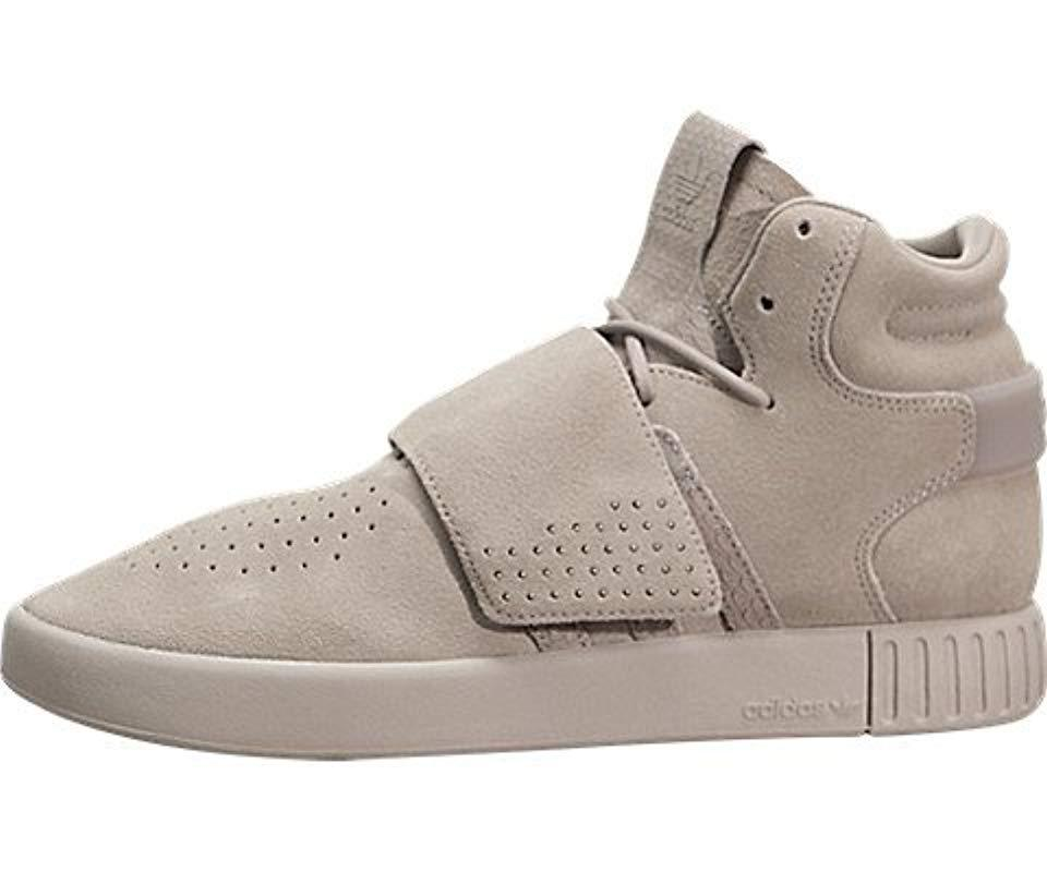 purchase cheap 9a399 6bd5a Lyst - Adidas Originals Tubular Invader Strap Shoes in Gray ...