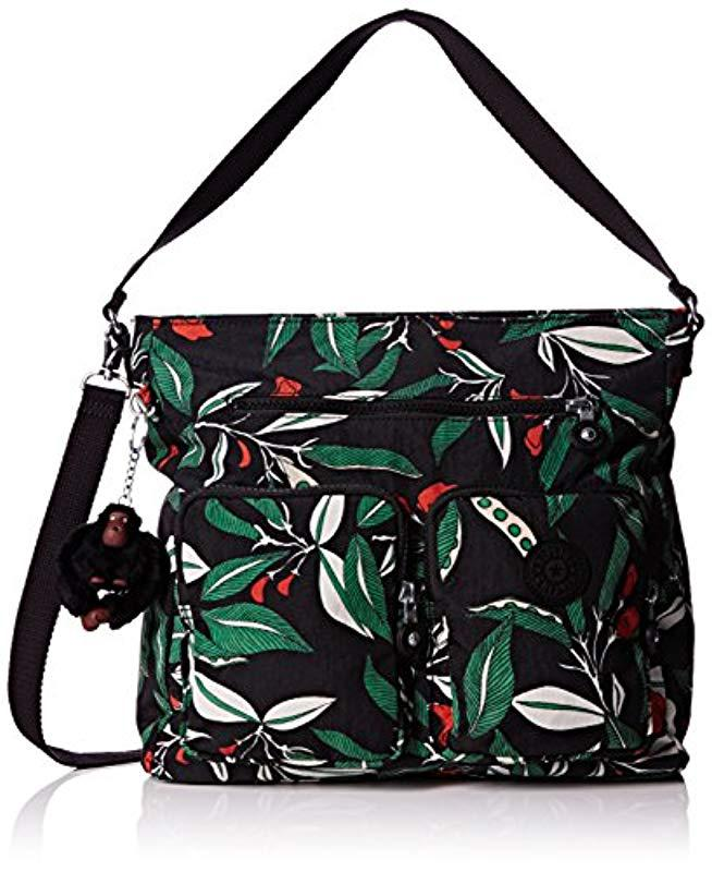 11d9f1c1ce Kipling Tasmo Hobos And Shoulder Bag in Black - Lyst