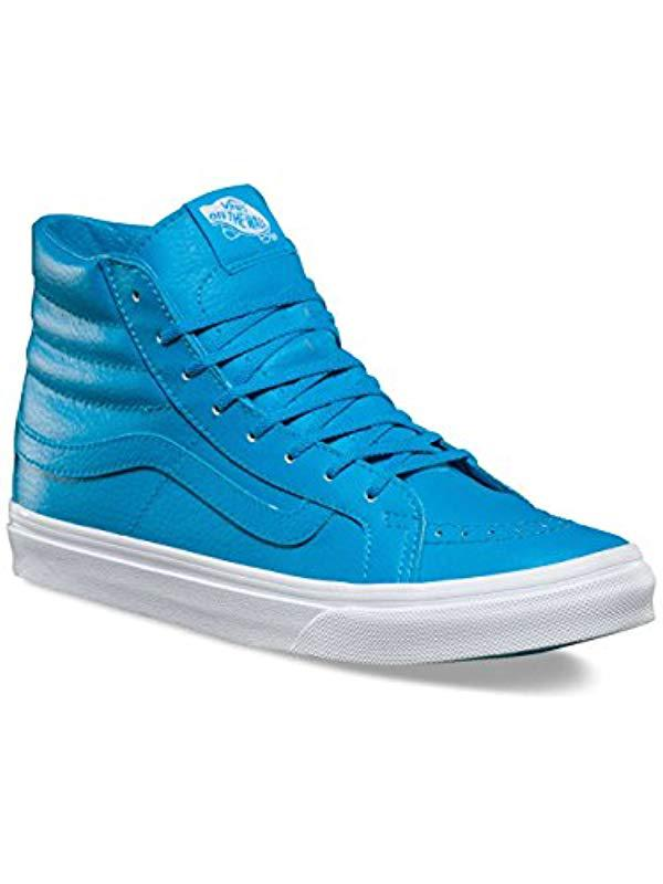 c4b56e76b5fbfe Lyst - Vans Unisex Sk8-hi Slim Skate Shoe in Blue for Men