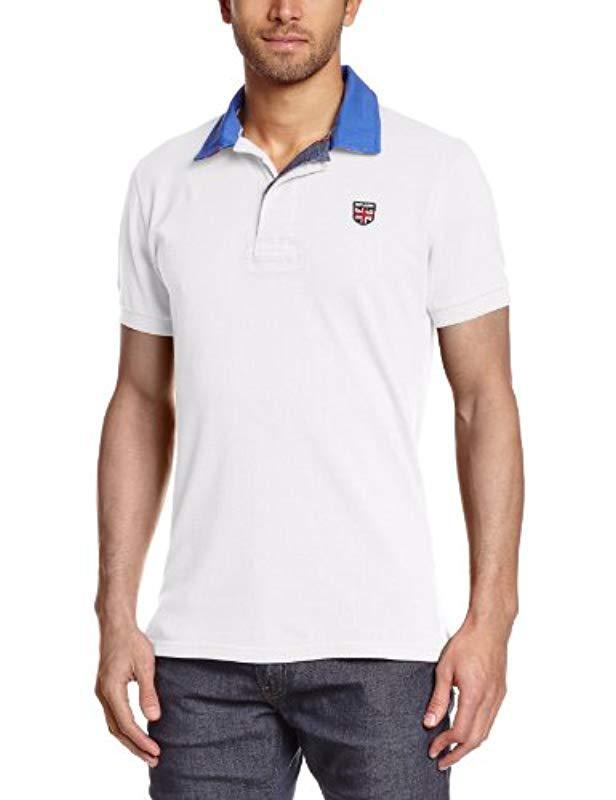8d3dfdd5 Pepe Jeans Esteban Short Sleeve Polo Shirt in White for Men - Lyst