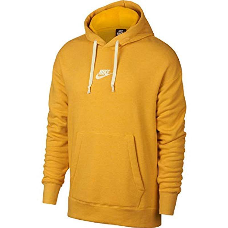 bac4b96c0 Nike M Nsw Heritage Hoodie Po Sweatshirt in Yellow for Men - Lyst