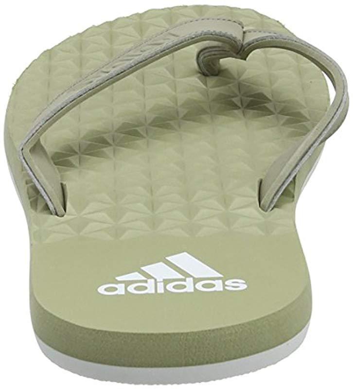 c0cc95406d20 Adidas - Green  s Eezay Soft Flip Flops for Men - Lyst. View fullscreen