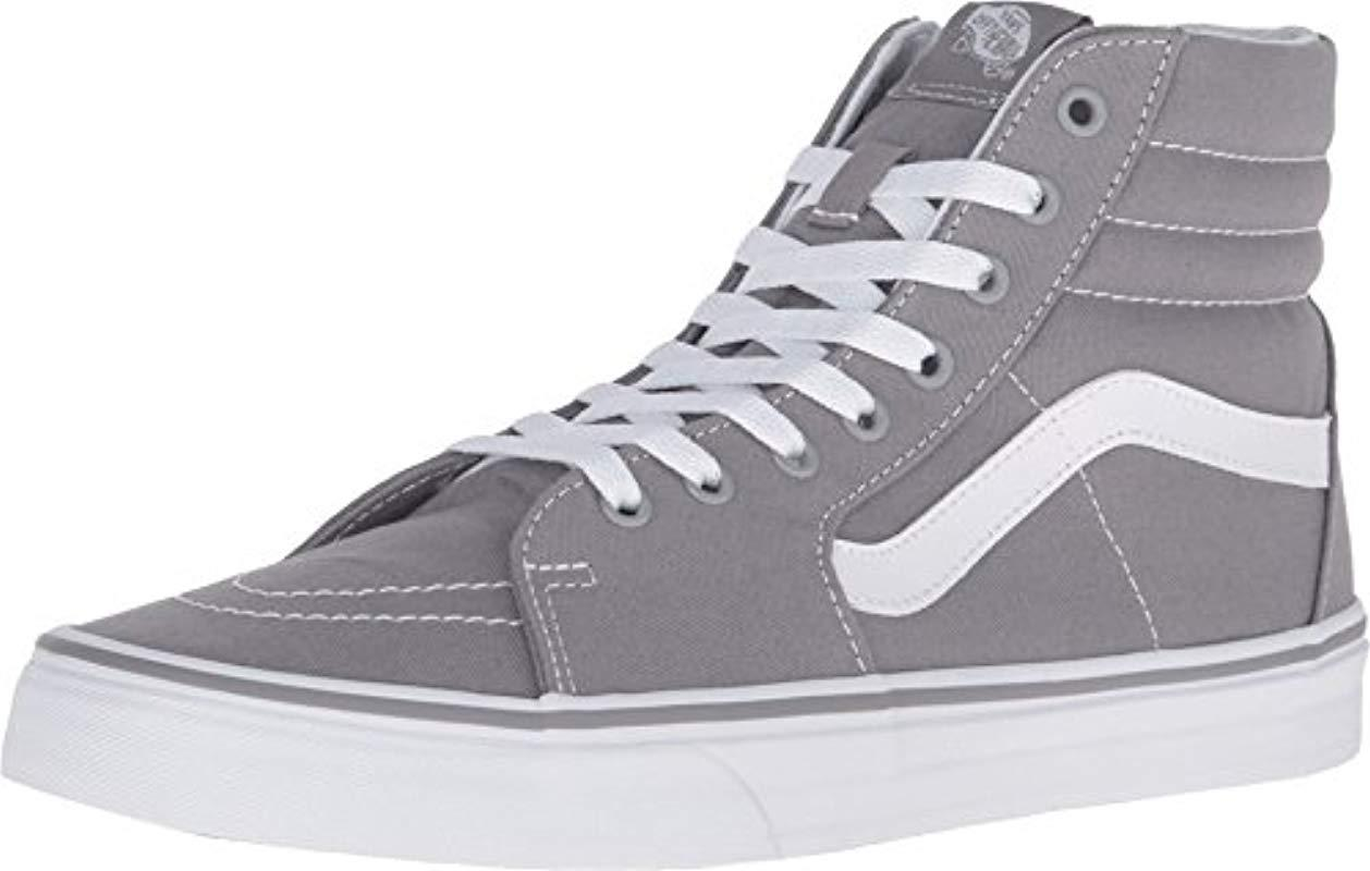 8a5c98f145baa4 Vans Sk8-hi Classic Unisex-adults Hi Top Lace-up Sneaker in Gray for ...