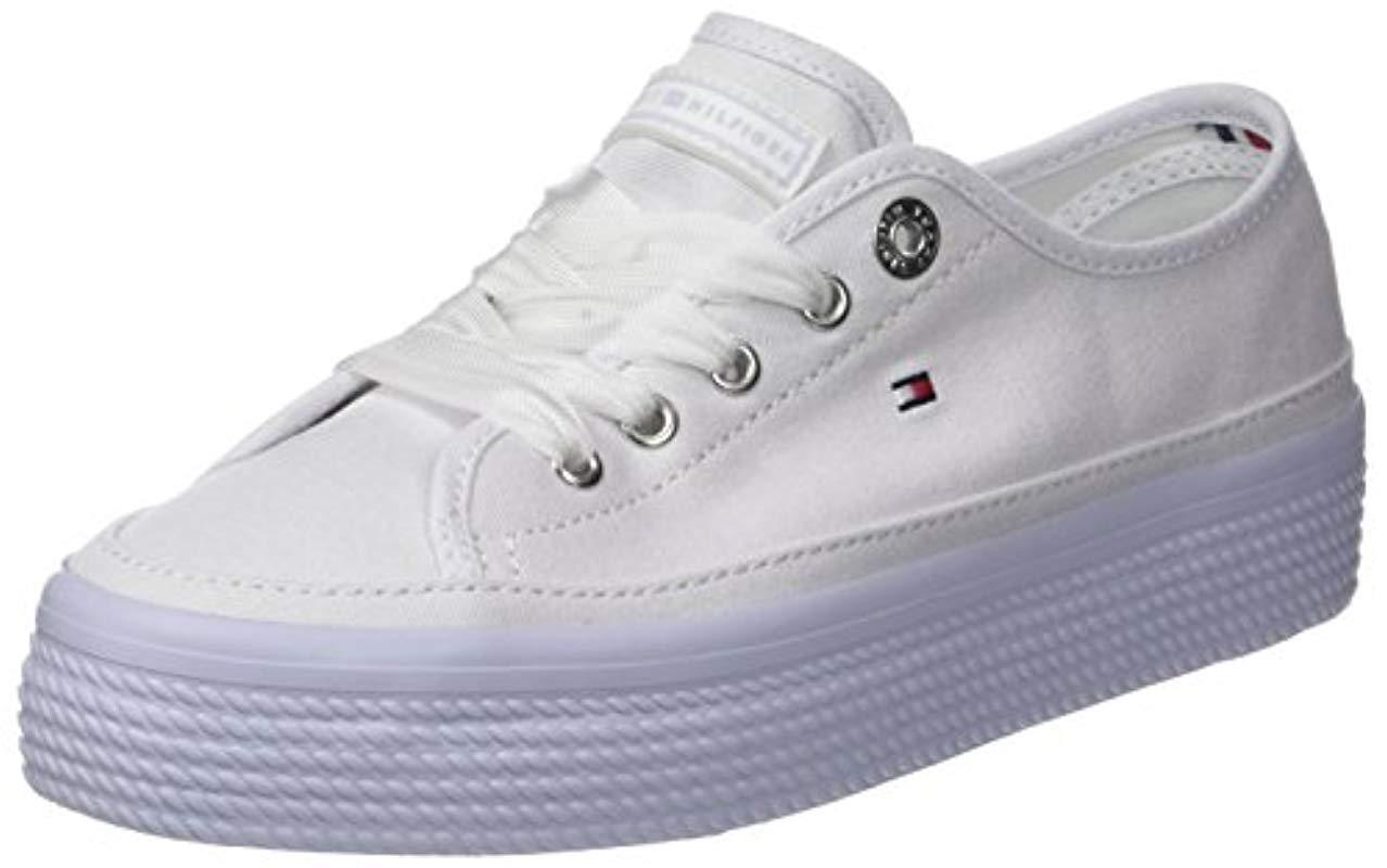 be240554 Tommy Hilfiger Pastel Flatform Sneaker Low-top in Blue - Lyst
