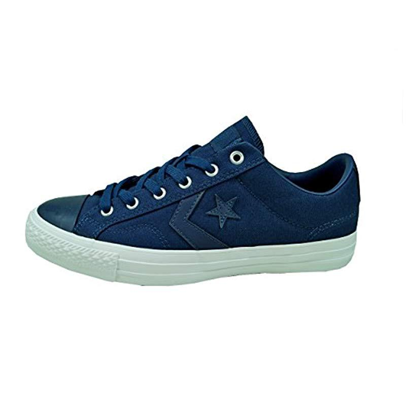 f6a0b2d88237 Converse. Blue Unisex Adults  Star Player Ox Almost White black Trainers