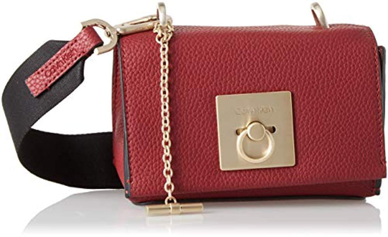 c62529d8b7 Calvin Klein Ck Lock Small Flap Crossbody