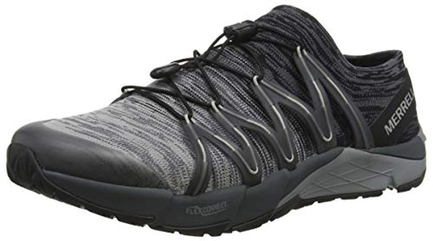 271168c9b7287 Merrell Bare Access Flex Knit Fitness Shoes in Black for Men - Lyst