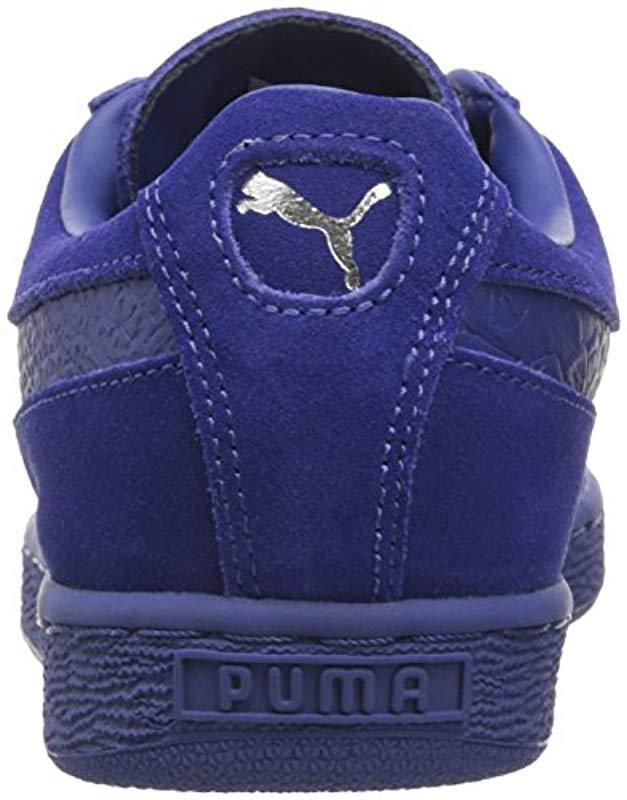 164bc6a2b91 Lyst - PUMA Suede Classic Mono Reptile Fashion Sneaker in Blue for Men -  Save 61%