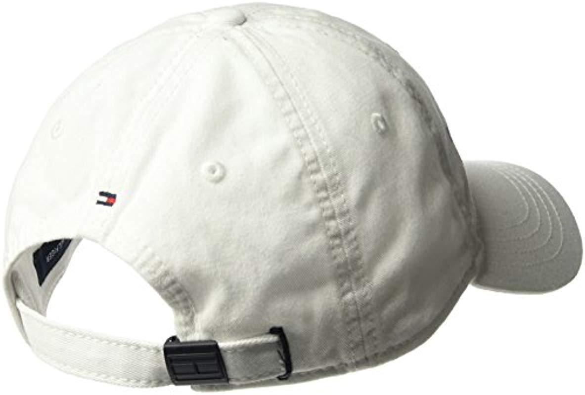 3a85bf599e9 Lyst - Tommy Hilfiger Dad Hat Matthew Cap in White for Men