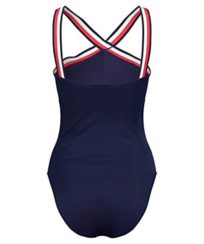9f71e845218e1 Tommy Hilfiger One-piece Rp Swimsuit in Blue - Lyst