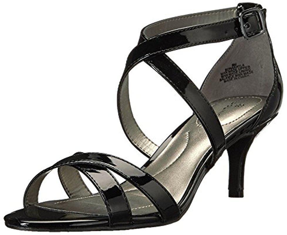 Bandolino Synthetic Nakayla Heeled Sandal in Black pa ...