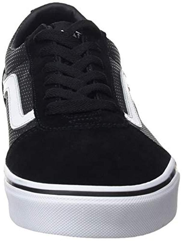 e4ee2ab0d8644 Vans Ward Suede Trainers in Black - Lyst