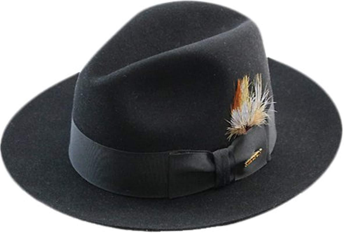 ff1fd1ce18936e Lyst - Stetson Sttson Temple Royal Deluxe Fur Felt Hat in Black for ...