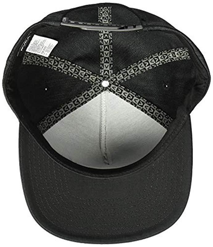 Lyst - RVCA Woods Snapback Hat in Black for Men 5c89c3a5d65b