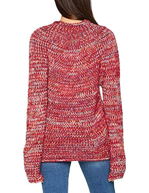 Benetton Sweater L s Jumper in Red - Lyst f9a4c1dd1f50