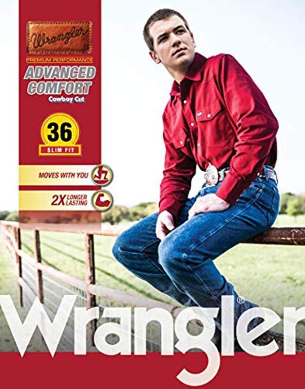 cb0094ff Lyst - Wrangler Big-tall Advanced Comfort Cowboy Cut Slim Fit Jean in Blue  for Men - Save 25%