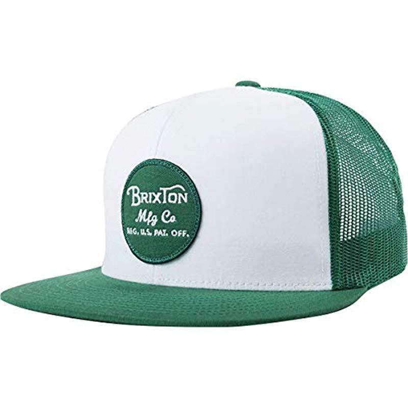 799a572db5f73 Lyst - Brixton Wheeler Medium Profile Adjustable Mesh Hat in Green ...
