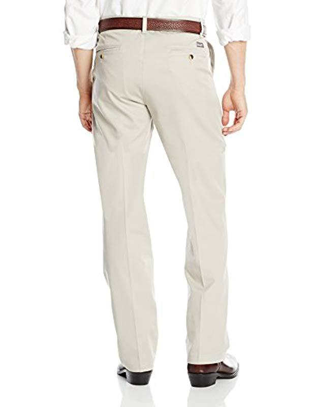 e3eea6da Lyst - Wrangler Riata Flat Front Relaxed Fit Casual Pant for Men - Save 11%