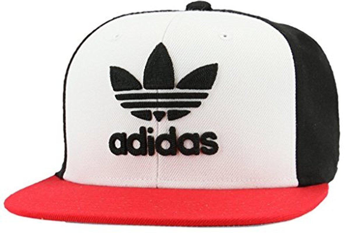 Lyst - Adidas Originals Snapback Flatbrim Cap in Black for Men 76f09913fd3