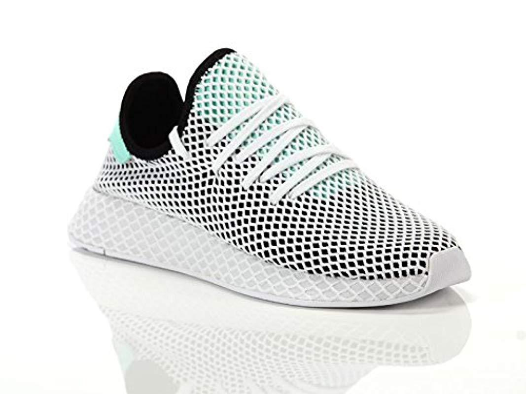 0fceaad22a931 Adidas Deerupt Runner W Gymnastics Shoes in White - Lyst