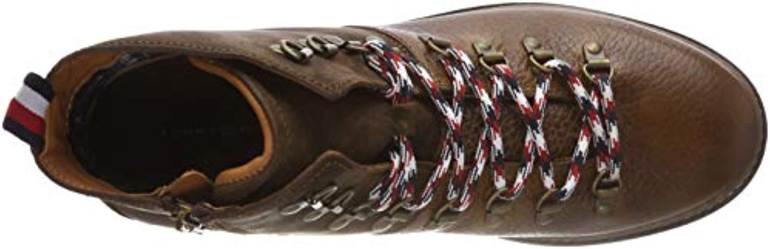 bca252a37d4a31 Tommy Hilfiger - Brown Elevated Outdoor Hiking Boot Combat for Men - Lyst.  View fullscreen