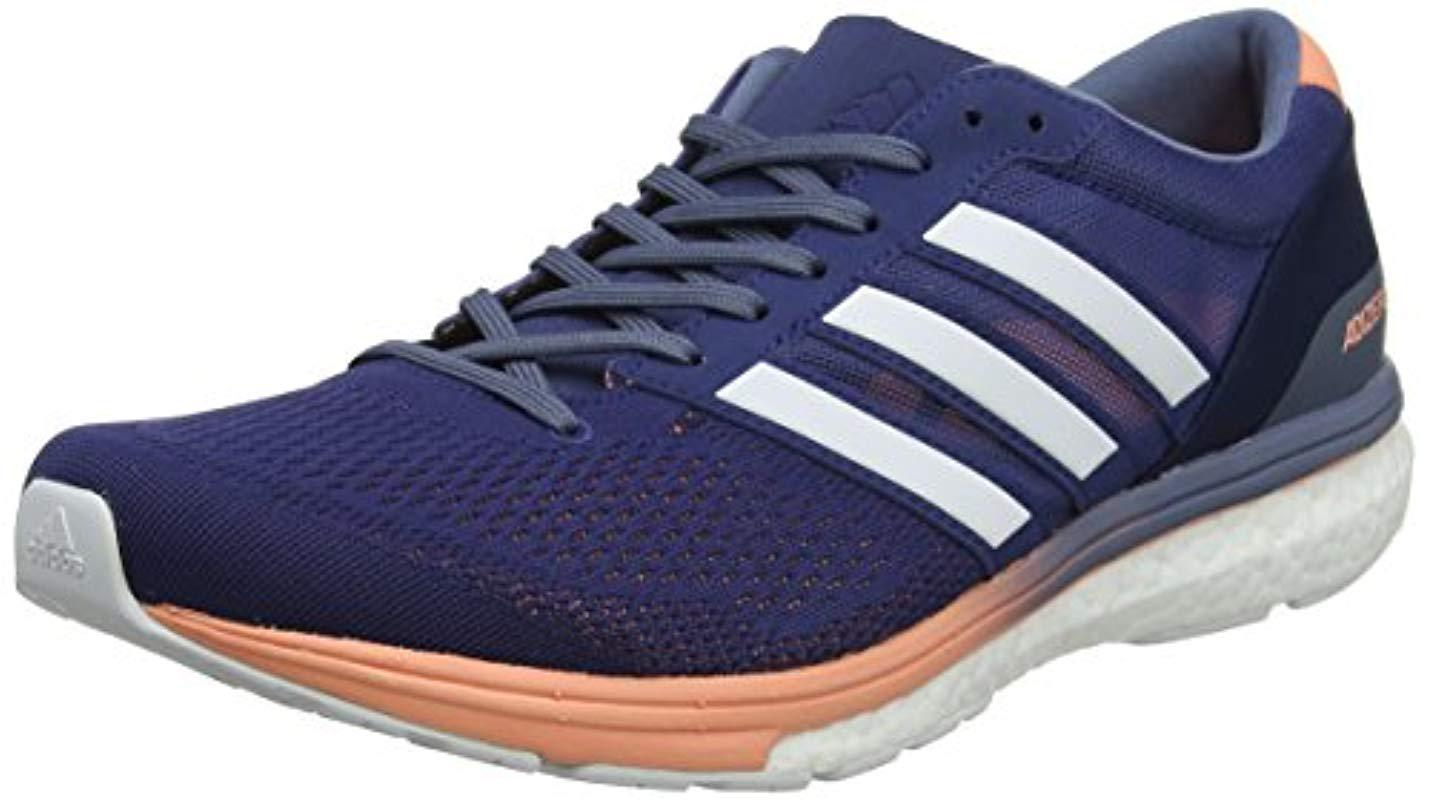 adidas Adizero Boston 6 Competition Running Shoes in Blue Lyst
