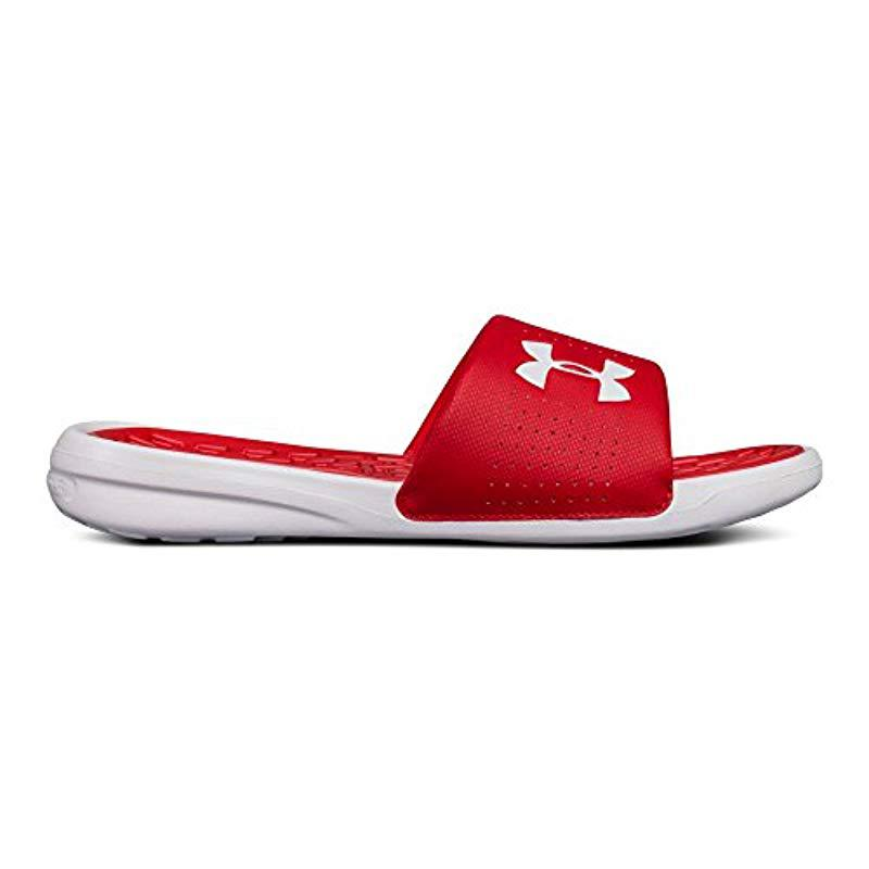 cee35daf038b Lyst - Under Armour Playmaker Slides in Red for Men