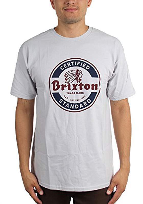 bc97d9b19 Brixton - Gray Soto Short Sleeve Standard T-shirt for Men - Lyst. View  fullscreen