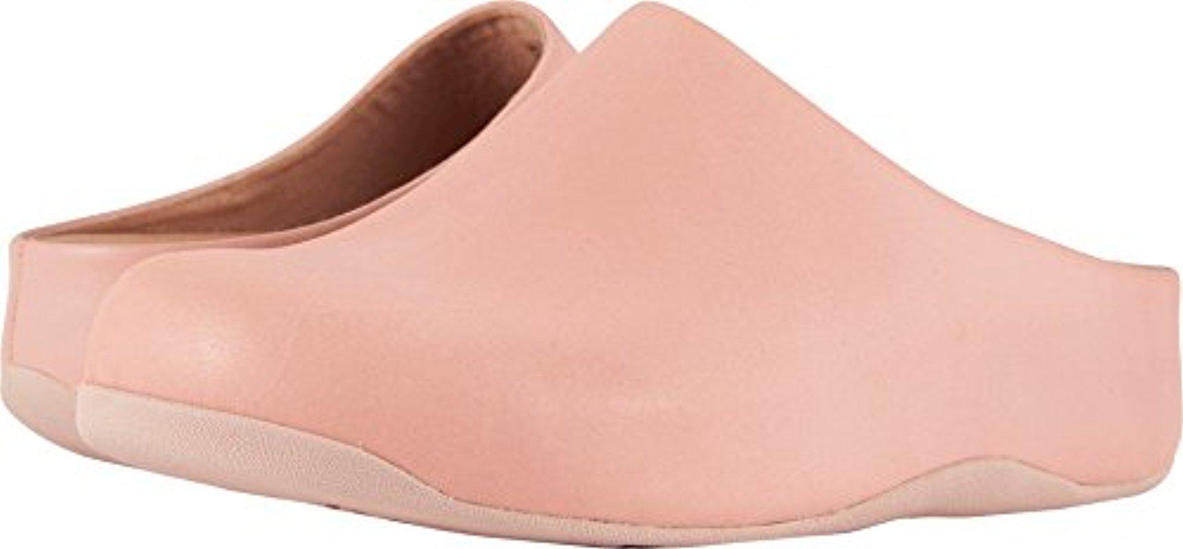 200996bda Lyst fitflop shuv leather medical professional shoe in pink jpg 1724x800  Fit flops shuv