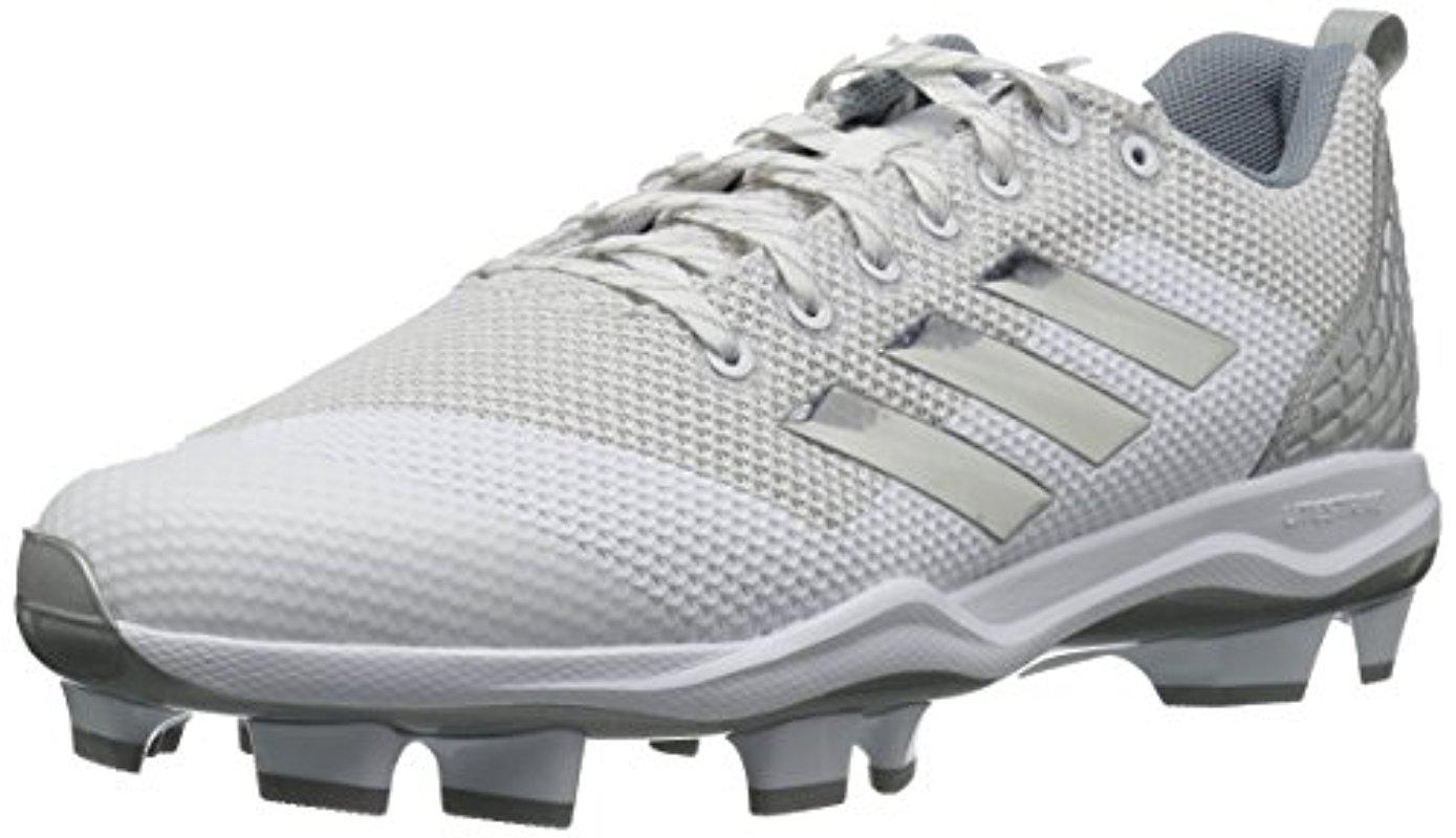 33c039c97dd adidas Poweralley 5 Tpu Molded Cleats in White for Men - Lyst