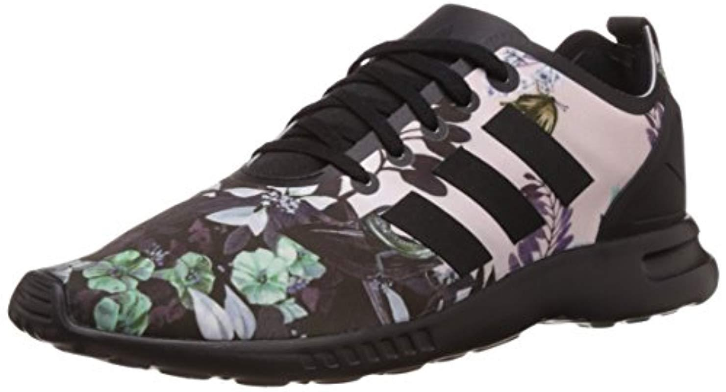 3c18c6b24 adidas  s Zx Flux Smooth Running Shoes in Black - Lyst