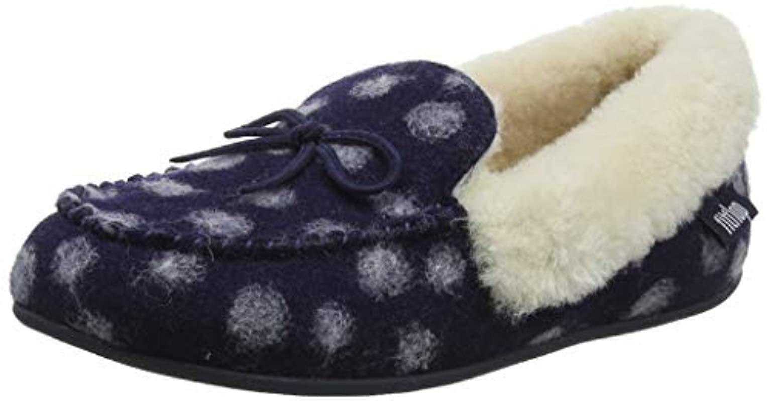 4e2e676b619a Fitflop Clara Moccasin Dots Low-top Slippers in Blue - Lyst