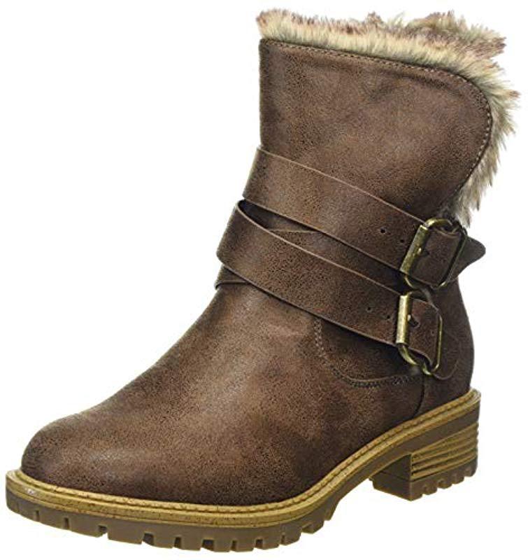 57a52117089e Dorothy Perkins Arctic Biker Boots - Lyst