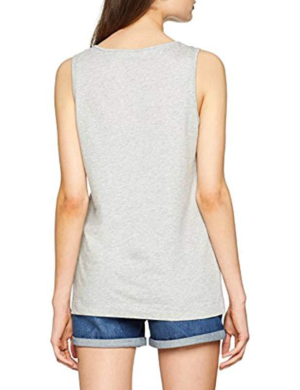 7fe8bcd08840e Tommy Hilfiger Dana Round-nk Graphic Tank Vest in Gray - Lyst
