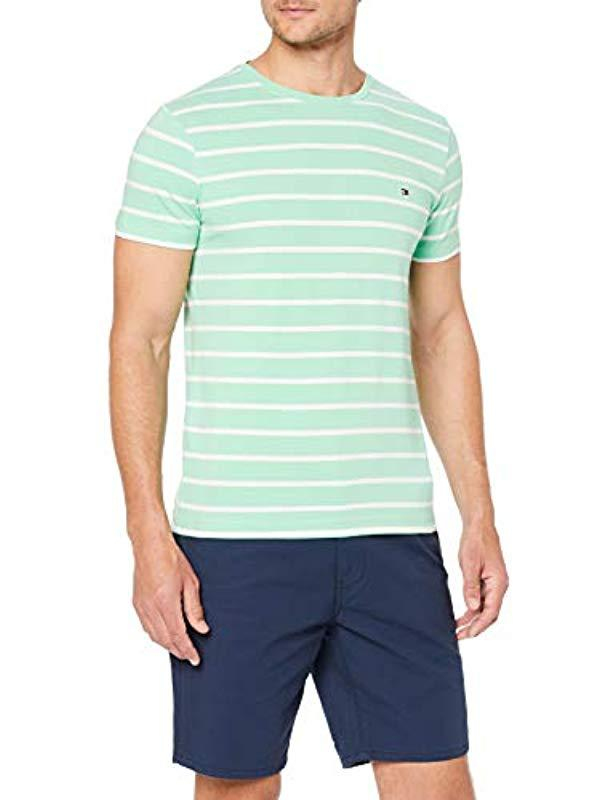 fea2c91e Tommy Hilfiger Stretch Slim Fit Tee T-shirt in Green for Men - Lyst