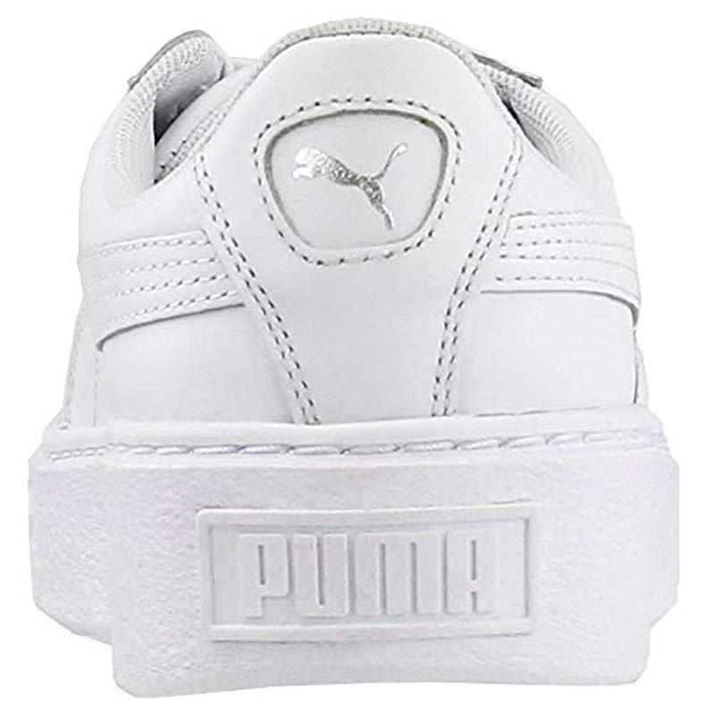 45179272ee6b Lyst - PUMA Basket Platform Iridescent Field Hockey Shoe in White