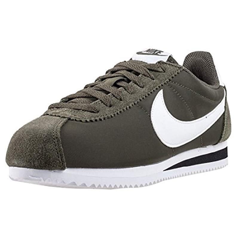 more photos 68069 29c3d denmark nike s classic cortez nylon fitness shoes for men lyst c5781 2966b