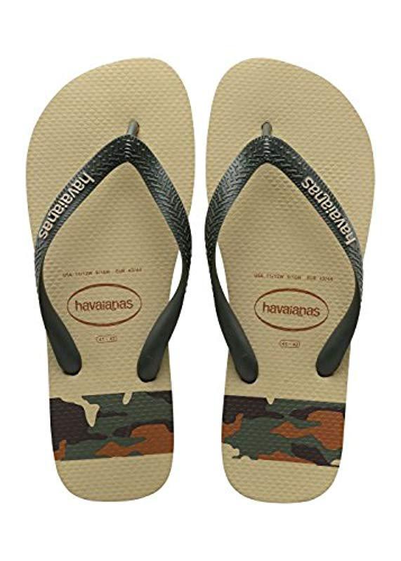 7448f4dd31c Havaianas  s Top Stripes Logo Flip Flops for Men - Lyst