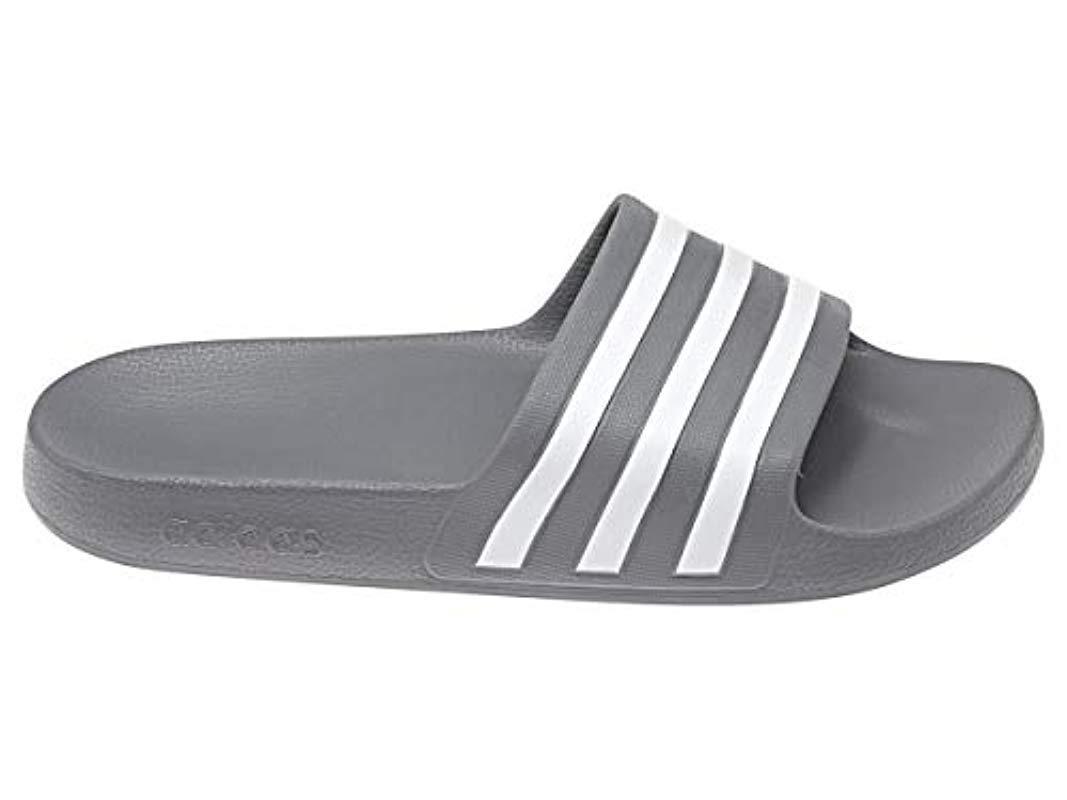reputable site b8eb1 53f2f adidas. Gray Unisex Adults Adilette Aqua Beach  Pool Shoes