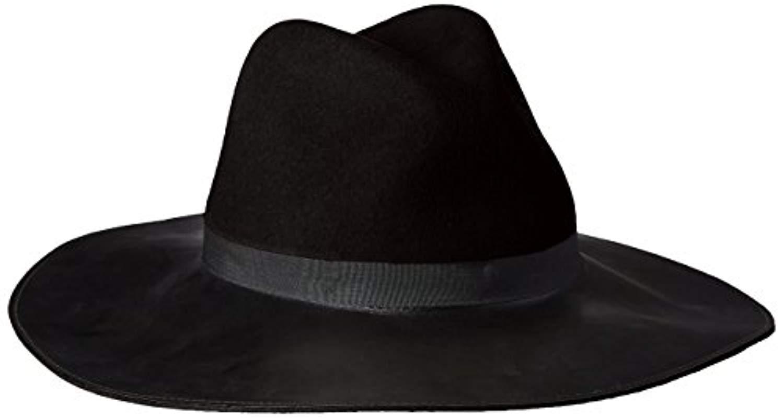 6ada493050a Lyst - Goorin Bros Miss Mei Wide Fedora Hat With Faux Leather Brim ...