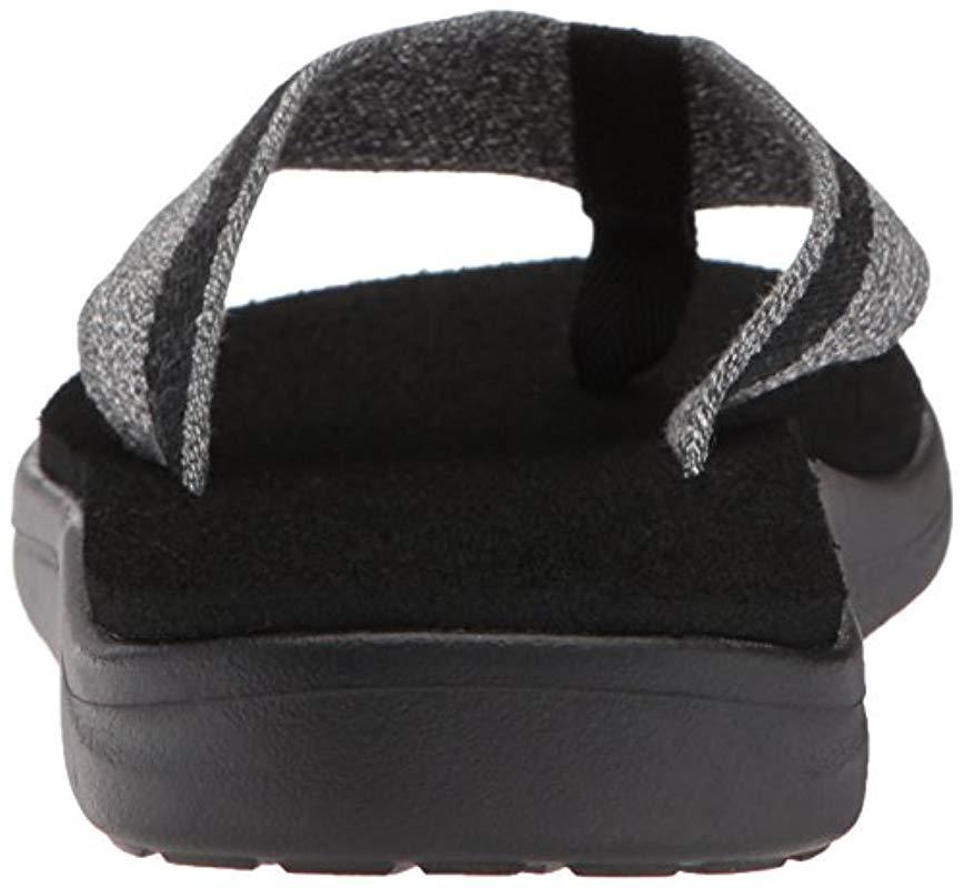 ffe9b82d016f Teva M Voya Flip Flops in Black for Men - Lyst