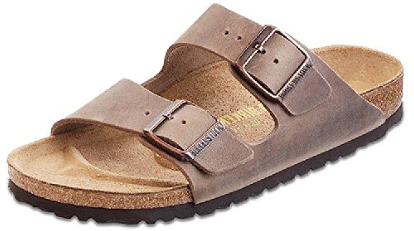3d228dc7b5c4 Lyst - Birkenstock Unisex Arizona Tobacco Oiled Leather Sandals - 11 ...