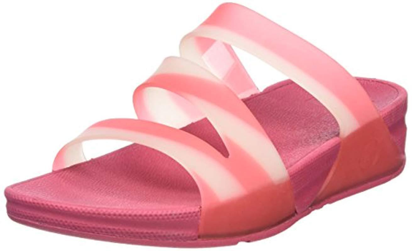 54dbef5d936 Fitflop   s Superjelly Twist Stripe Open Toe Sandals in Pink - Lyst