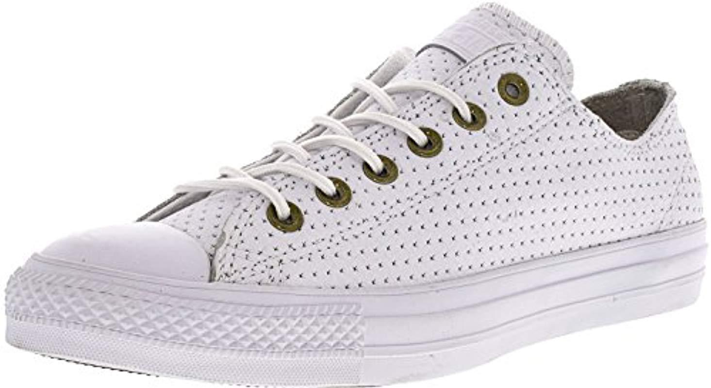 22bba0f9f72 Lyst - Converse Chuck Taylor All Star Leather Ox in White for Men