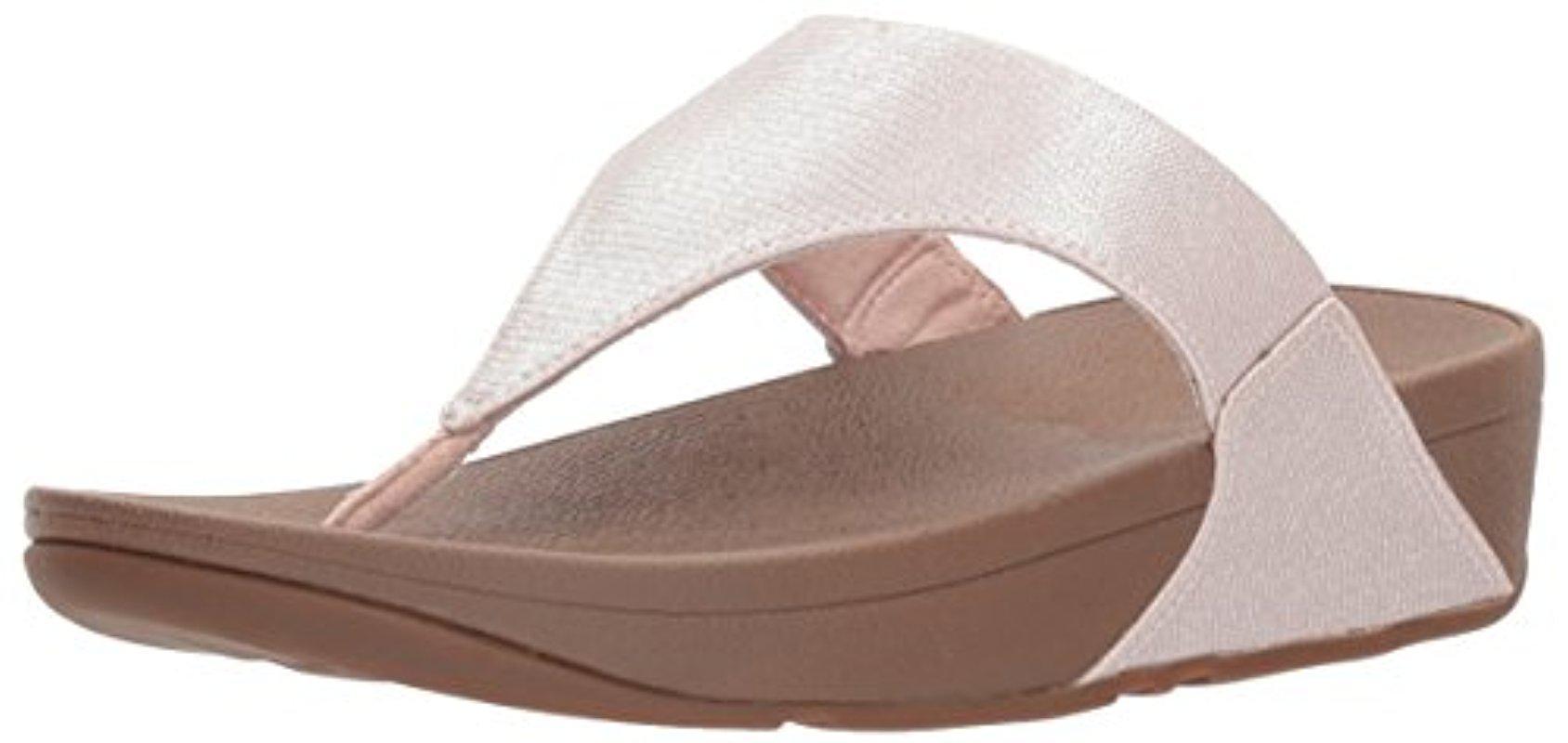 de410dc6b Lyst - Fitflop Lulu Lizard-print Flip Flops Sandal in Brown