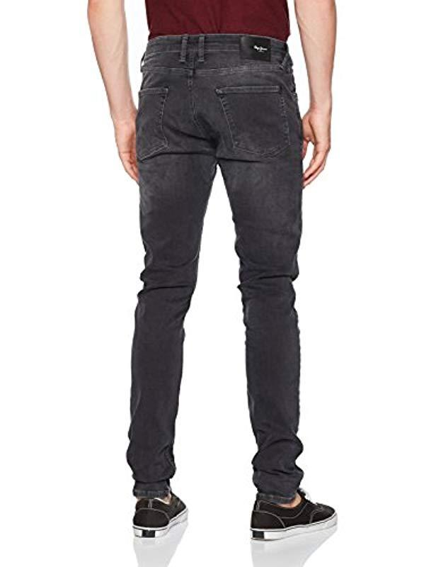 835cd3d5c36 Pepe Jeans Finsbury Pm200338 Skinny Jeans in Black for Men - Save 62% - Lyst
