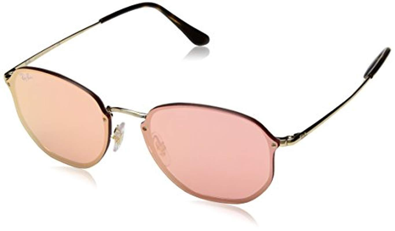 25e59469b0 Ray-Ban Blaze Hexagonal Sunglasses In Gold Pink Mirror Rb3579n 001 ...