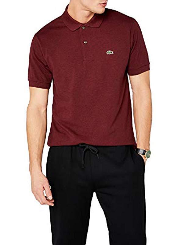 b4a020653d Lyst - , Polo Classic Fit Homme Lacoste pour homme en coloris Rouge
